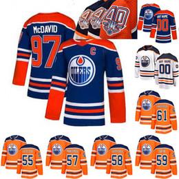 d5b01b1cd Ice Hockey Jerseys NZ - Edmonton Oilers Jersey 40th Anniversary 55 Mark  Letestu 59 Ostap Safin