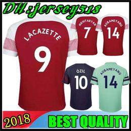 5e9cb90d1 18 19 Gunners OZIL ALEXIS AUBAMEYANG soccer jersey 2018 WILSHERE GIROUD  LACAZETTE CHAMBERS XHAKA home away football shirt