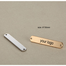 $enCountryForm.capitalKeyWord NZ - 6*35mm 2 holes Custom Stainless Steel Necklace pendant-Customized Rectangle Charms Engrave Laser your own logo