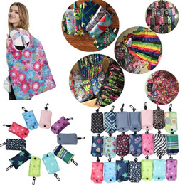 Stocking nylon lady online shopping - New folding Bag Nylon Foldable Shopping Bags Reusable Eco Friendly folding Bag Shopping Bags new Ladies Storage Bags IB002