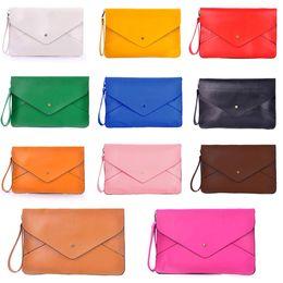 Leather brown briefcase online shopping - Pop Nice Women Envelope Clutch Bag Briefcase PU Leather Envelope Shoulder Crossbody Bag Vintage Small Clutch E2shopp Vogue