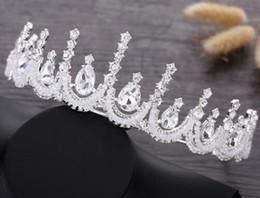 Copricapo da sposa nuovo abito da sposa corona ornament Wedding Jewelry Crystal Beaded Hoop princess crown