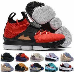 purchase cheap ca1ad 32737 2018 Nuevo Lebron James 15 XV Red Diamond Turf 15s EP Zapatillas de  baloncesto para hombre EQUALITY Negro Blanco Rojo Edición alternativa  Zapatillas de ...