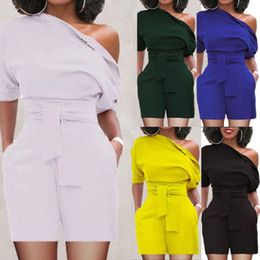 Women Jumpsuit Romper Playsuit Australia - Sexy Women Casual Playsuit Party Evening Summer Romper Jumpsuit Shorts New Backless Clothing