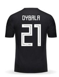 Chinese  Argentina mens Customized Thai Quality Soccer JerseyS Shirts,18-19 10 Messi 21 Dybala 11 Di Maria 9 Icardi 7 Benedetto 16 Agüero Soccer Wear manufacturers
