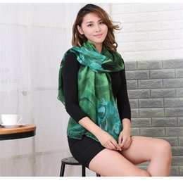 Scarf Shawl Linen Cotton Australia - 2018 Autumn and Winter Cotton and Linen Scarf Ladies Printing Fashion Wild Silk Scarf Voile Softwarm Gift for Personal Use Shawl