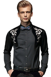 $enCountryForm.capitalKeyWord Canada - New Arrival Men Spring Royal Prince Floral Slim Tuxedo Shirts Male Classic Casual Long sleeve Top shirts Clothing mens 512003
