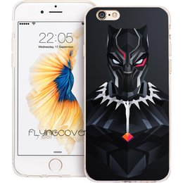 Black Case For Iphone 4s Australia - Black Panther Art Capa Clear Soft TPU Silicone Phone Cases for iPhone 10 X 7 8 Plus 5S 5 SE 6 6S Plus 5C 4S 4 iPod Touch 6 5 Cover.