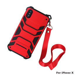 $enCountryForm.capitalKeyWord UK - Spider Man Hybird Shockproof Armor Heavy Duty Defender with Lanyard sling Case for iphone X 8G 7G 6S PLUS 5S SE with strap