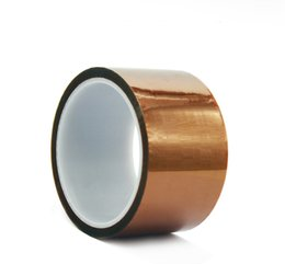 $enCountryForm.capitalKeyWord UK - Battery Packing Thermal Transfer Print Brown Polyimide Insulation Adhesive Tape High Temperature Resistance Tape 50mm Width