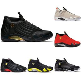 3a40a364156752 New Mens 14 Designer Basketball Shoes The Last Shot DMP Desert Sand 14s Men  Sports Thunder Red Black Toe Sneakers size 8-13