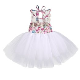 $enCountryForm.capitalKeyWord NZ - Summer 2017 Baby Kids Girl Tulle Tutu Floral Dress Party Wedding Bridesmaid Dresses Sundress