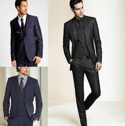 Discount suit for man light blue - 2018 New Formal Tuxedos Suits Men Wedding Suit Slim Fit Business Groom Suit Set S-4 XL Dress Suits Tuxedo For Men (Jacke