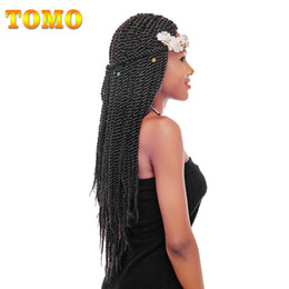 Discount grey braiding hair - TOMO Crochet Senegalese Twist Kanekalon Braids Pure Ombre Grey Brown Pre Crochet Black Woman Synthetic Braiding Hair Ext