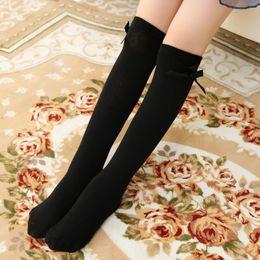 High Elasticity Girl Cotton Knee High Socks Uniform Accordion And Autumn Maple Leaves Women Tube Socks