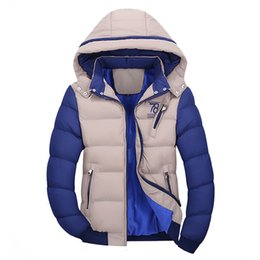 Hooded Winter Parkas For Men NZ - Patchwork Warm Jackets And Coats For Man Winter Male Jacket Men Thick Zipper Windbreaker Parka Plus Size 3XL Hooded Clothes 201