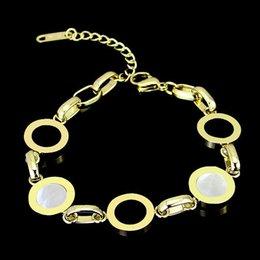 White Silver Bracelet Australia - Luxury Roman numerals Black white shell bracelet for women Stainless Steel Silver Rose gold BV lettering designer charm bracelet Brand named