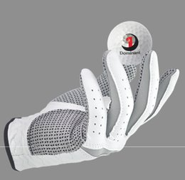Men Gloves Leather Sheepskin Australia - 100PCS Golf Gloves Men's Left Hand Soft Breathable Pure Sheepskin With Anti-slip Granules Golf Gloves Golf Men
