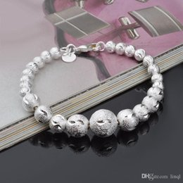 Low Prices Silver Chains Australia - wholesale new 925 sterling silver balls chain bracelet cool street style fashion jewelry Christmas gifts low price free shipping!