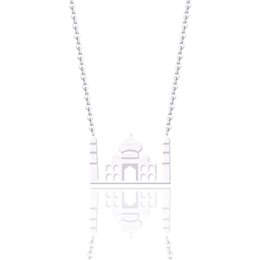 fairy tale pendants wholesale NZ - 10PCS Exquisite Castle Necklace Child's Fairy tale Building Pendant Gold Silver Royal Palace Party Gifts House Handmade Collares