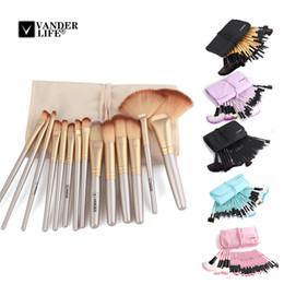 Best eye shadow kits online shopping - Best Set Professional Makeup Brush Powder Foundation Eye Shadows Lipsticks Make Up Brushes Tools w Bag pincel maquiagem