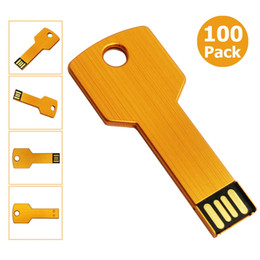 4gb flash drive wholesale Australia - Free Shipping 100pcs 4GB USB 2.0 Flash Drives Flash Memory Stick Metal Key Blank Media for PC Laptop Macbook Thumb Pen Drives Multicolors