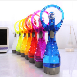 Wholesale Water Mist Fans Australia - Handheld Misting Fan Battery Operated Misting Fan Water Spray Misting Fan Mini Portable Personal Cooling for Outdoor