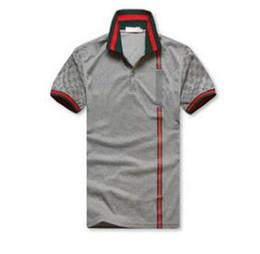 Venta al por mayor de 2018 New Men'sshish sleeves polo shirt T-shirt Polo bordado para hombres de lujo Polo Men Cotton Short Sleeve shirt. Envío gratis