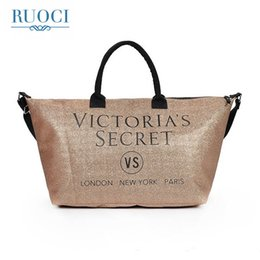 China RUOCI Brand Letters Soopream Women Canvas Shoulder Bag Handbag Female Pu Travel Summer Beach Bag for Girls Wheels for Suitcases cheap suitcase girl suppliers