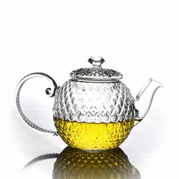 Chinese  1 x 10fl.oz   300ml Heat Resistant Handmade Crystal Glass Teapot Japanese-style with Filter and Lid Drop Shipping manufacturers