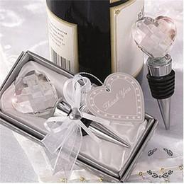 Vente en gros Creative Crystal Wine Stopper Thème Faveurs De Mariage Pour Invité Bouteille Bouchons Petit Cadeau Romantique Conception 8 5sf ZZ