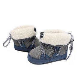 Newborn Baby Cartoon Lamb Plush Non-Slip Ankle Booties Boots 0-15 Months