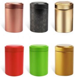 $enCountryForm.capitalKeyWord Australia - wholesale 100pcs Mini Tea Canister, tin Tea caddy, tea container small round storage jar free shipping