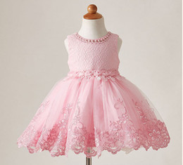 511daf2c837 3 to 12 years Girls summer lace pearls flowers dresses