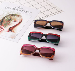 Wholesale Kids sunglasses vintage style girls stripes wrap frame goggles summer boys leopard grain cool cycling shade eyewear kids sunblock YA0087