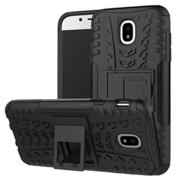 $enCountryForm.capitalKeyWord Australia - Tire Pattern Durable Armor Phone Case For Samsung Galaxy J3 J5 J7 EU A3 A5 A7 A8 2017 2018 Hybrid Rugged PC+TPU Kickstand Shockproof Cover