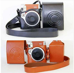 $enCountryForm.capitalKeyWord Canada - Black   Brown PU Leather Case Cover Set For Fuji Fujifilm Instax Mini 90 Digital Camera Bag Case With Strap