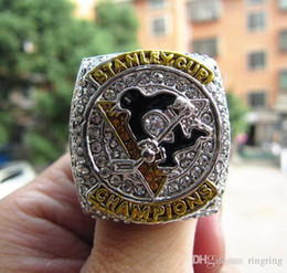Pittsburgh Rings NZ - Drop Shipping 2016 Pittsburgh Penguins Stanley Cup Championship Ring Fan Men Gift Wholesale