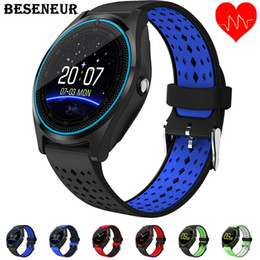$enCountryForm.capitalKeyWord Australia - Beseneur Bluetooth Smart Watch V9 with Camera Smartwatch Pedometer Health Sport Clock Hours Men Women Smartwatch For Android IOS