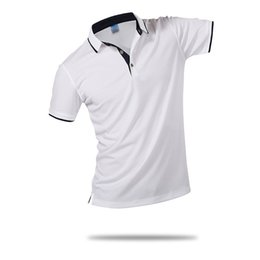 Contrast Collar polo online shopping - Wintress Fashion Style Men Polo Shirt Contrast Color Collar Short Sleeve Fitness Solid Male Polo Top Clothes Custom Print