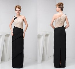 Discount simple chiffon one shoulder wedding dress - 2018 Mother Of The Bride Dresses One Shoulder Chiffon Split Back Long Wedding Party Dress For Mother