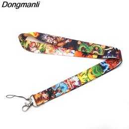 Discount hanging holder phone - P2221 Dongmanli  BALL Z Lanyards For Keys ID Card Pass Gym Mobile Phone USB Badge Holder Hang Rope Lariat Lanyard