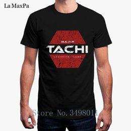 Новый мужской футболка Тачи футболка одежда хлопок фитнес с коротким рукавом футболки мужчины плюс размер 3xl дизайн топы Camisas Slim Fit на Распродаже