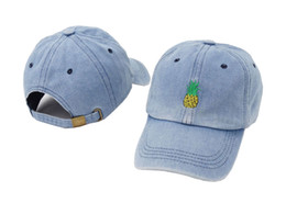 Drop Shipping Men Women Pineapple Embroidery Baseball Cap Women Cotton Dad  Cap Fruit Snapback hip hop Dad Hat Trucker Casquette e0a13d4f5e7b