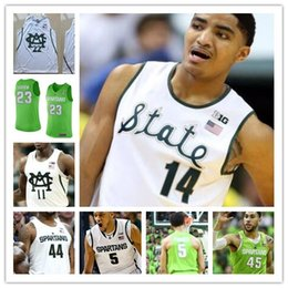 Draymond Green Custom Michigan State Spartans College Basketball White Green  Personalized Stitched Any Name Number 44 Nick Ward Jerseys michigan state  ... 9c5008bac