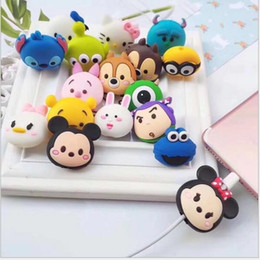 Chinese  best new 40 kinds Cable cartoon Animal Bite Protector for iPhone Cable Organizer Winder Phone Holder Accessory Rabbit Dog Cat Cute Design manufacturers