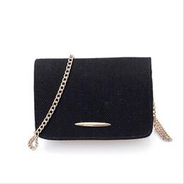 Ladies Handbag Fabric Canada - Women Luxury Handbag Chains coon fabric Flap Bag Female Solid Color Fashion Brand Evening Clutch Ladies Messenger Bag 20029