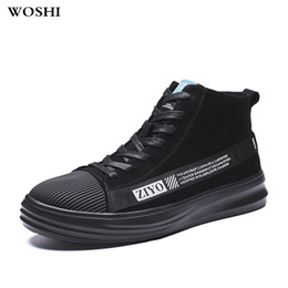 hottest boots season 2019 - Hot sale outdoor Fashion High top Men Boots Warm Winter Men comfortable shoes All season Leather Footwear Casual Shoes w
