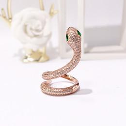 dda623c87ac4 2018 Moda Serpiente Anillos señora Anillo Diseño de Moda Joyería Dedo Largo  de Alta Calidad 1 Unids Partido Punky Accesorios de Joyería de moda
