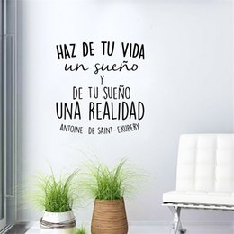 $enCountryForm.capitalKeyWord NZ - Spanish Inspirational positive Quotes Vinyl Wall Stickers For Living Room bedroom home wall Decoration